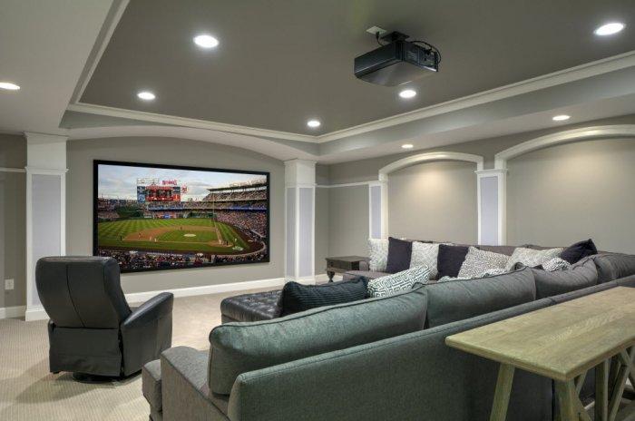 Residential interior painting - Media Room