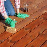 Deck stain paint