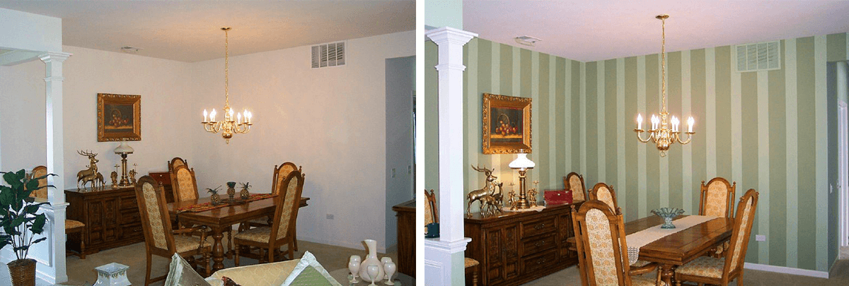 Dining Room Painting Before and After