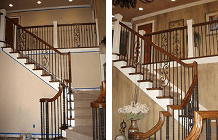 Staircase Interior Painting Before and After