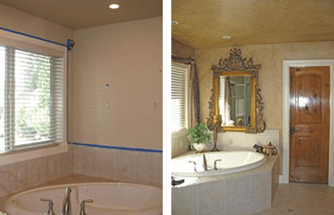 Bathroom Interior Painting Before and After